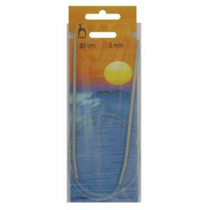 PONY 50605 Обръч за плетене, алуминий, 80 см, №3.0