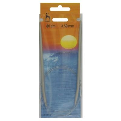 PONY 50610 Обръч за плетене, алуминий, 80 см, №4.5