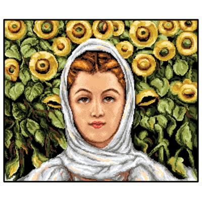 20110207 Момиче със слънчогледи