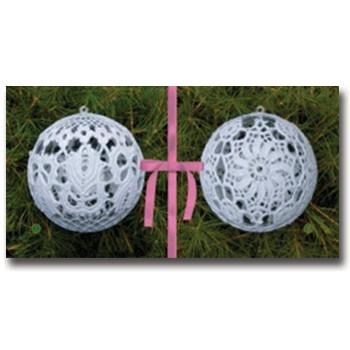 002010 Комплект 2 топки розова панделка, акрил, големи