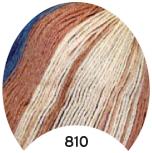 МТ Мерино голд батик 100 г, цв. 810